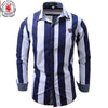 New Arrival Brand Men's Shirt  Striped Long Sleeve Plaid Shirts Mens Dress Shirt Brand Casual Denim Style Printing Shirts 109
