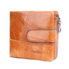 Classical Genuine Leather Men Wallets Wallet For Fashion Sandstone Color Purse Card Holder Man Coin Pocket