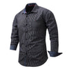 New Arrival Brand Men's Shirt  Striped Long Sleeve Plaid Shirts Mens Dress Shirt Brand Casual Denim Style Printing Shirts 108
