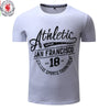 FREDD MARSHALL New Arrival Men T-shirt Men's Short Sleeve Tee Mens Letter Printing 100% Cotton Flexible Tops Plus size 308