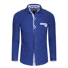 Men's Shirts Fashion Style Mens Casual Long Sleeve Shirt  Business Dress Shirt Plus Size 100% Cotton 087