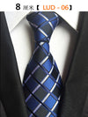 Classic 100% Silk Men Ties New Design Neck Ties Plaid&Striped Ties for Men Formal Business Wedding Party