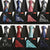 Men Fashion Tie Set Silk Necktie Handkerchief Business Men Ties Plaid Stripes Paisley Casual Tie