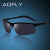 New Aluminum-magnesium alloy frame sunglasses metal sun glasses for Men male driving glasses