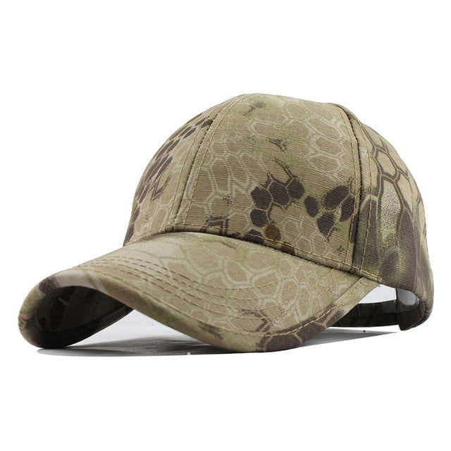 cb1a4fbe106 Men s Snapback Camouflage Tactical Hat Army Tactical Baseball Cap Head Camouflage  Caps Sun Hat Golf Hats