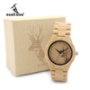 New Famous Womens Deer Wooden Bamboo Wrist Watch Dress Style Female Ladies