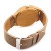 Movement Wristwatches Genuine Leather Bamboo Wooden Watches for Men and Women Christmas Gifts