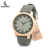 Wood Bamboo Watch for Mens Womens Designer Watches Soft Nylon Band Carton Gift Box