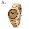 Unisex Bamboo Watch Men Quartz Watches Full Bamboo Designer as Best Gift For Men Women With Gift Box