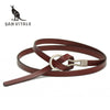 New Designer Ladies Belts Women's Strap Cow Genuine Leather Casual Female Waistband for Skirts Dress students pure color