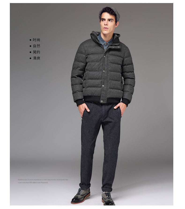62bc87b9e7cb5 Men High-end Seamless Down Jackets Clothing Mens Casual Thick Down Jackets  Fashion Winter Coats
