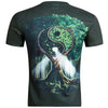 Men's casual short-sleeved t-shirt O-Neck European Style 3D digital printing tai chi wood hip hop
