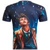O-Neck European Style Men's casual digital printing 3D short-sleeved t-shirt hip-hop