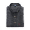 New Autumn Men Casual Shirts Striped Fashion Collar Button-Up Long Sleeve Slim Fit Business Men Dress Shirts With Pocket