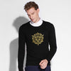 New Men Casual Sweaters Autumn Fashion Embroidery Long Sleeve O-neck 100% Cotton Soft Men Knitted Sweater