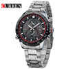 Top Original Men Full Steel Watch Clock Male Quartz Business Watches Waterproof  Wristwatches