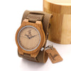 Luxury Design Bamboo Wood Watches Genuine Leather Bracelets Bands Straps Mens Watches Top