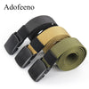 New Tactical Belt for Men Automatic Buckle Army Nylon Belts Military Survival  Designer Strap