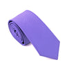 Mens Ties Silk Skinny Ties For Men Slim Tie Solid Purple Wedding Necktie