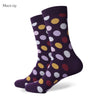 Colorful dot  men's combed cotton socks man dress knit socks Wedding Gifts
