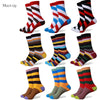 Casual  new style men's combed cotton colorful socks  man dress knit socks
