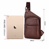 Casual Leather Men's Crossbody Bag  Mens Leather Shoulder Bag Leisure Men Messenger Bags