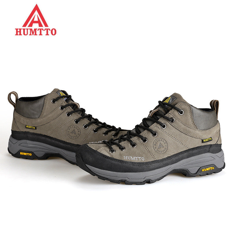 outdoor hiking shoes men trekking boots camping sneakers sportive shoes factory direct Lace Up Rubber