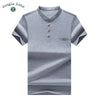 Business T-shirt Men's short-sleeved t-shirt Cozy men cotton short sleeve T-shirt