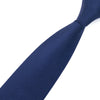 Men's Silk Skinny Slim Narrow Dark Blue Wedding Jacquard Woven Tie Necktie For Wedding Groom Party