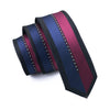 Blue Red Slim Tie Silk Necktie Fix Pattern New Casual Classic For Men Wedding Party Business