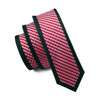 Mens Ties Silk Skinny Ties For Men Narrow Gravata Slim Tie Plaid Red Necktie
