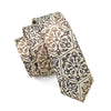 Mens Ties Silk Skinny Ties For Men Slim Tie Novelty Brown Necktie
