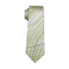 Men`s Tie Yellow Classic Novelty Silk Jacquard Woven Necktie Hanky Cufflinks Set For Business Wedding Party