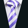 Men Silk Tie Purple Stripe NeckTie Silk Jacquard Ties For Men Business Wedding Party