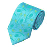 Mens Ties Blue Novelty Neck Tie 100% Silk Jacquard Ties For Men Business Wedding Party