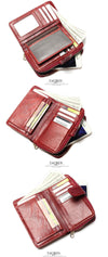 New Style Layer Medium Paragraph Buckle Leather Wallet Women's Purse