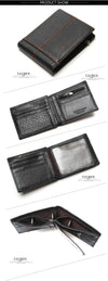 Fashion And Vintage Wallet For Man Genuine Leather Men's Wallets Men Cowhide