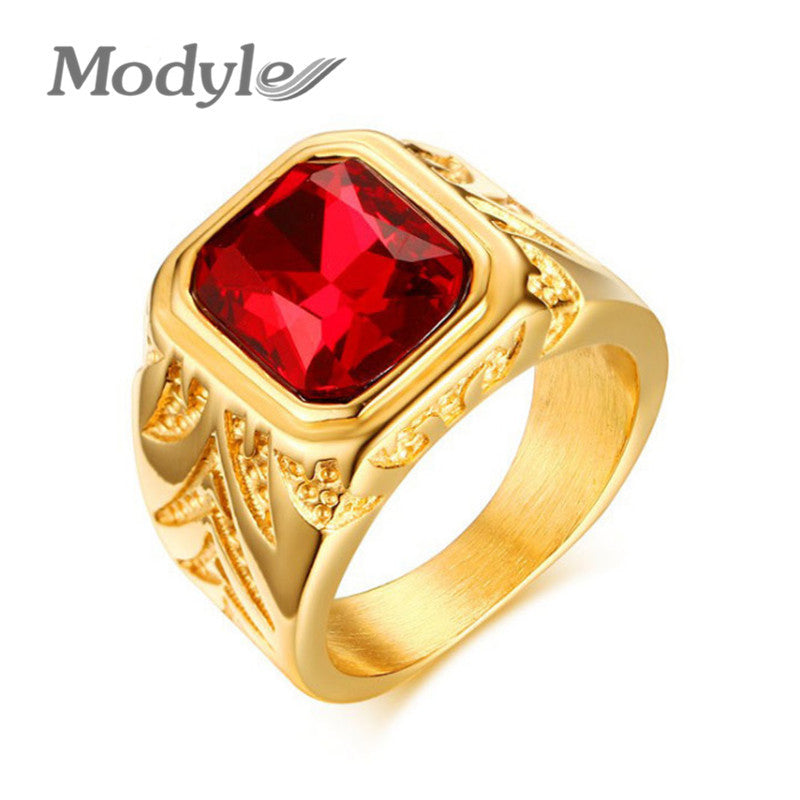 classic unique stone ring jewelry gold big pin rings