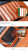 New Design Fashion Multi functional Purse Genuine Leather Wallet Women Long Style Cowhide Purse