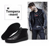 Autumn Winter Handmade Genuine leather Men Boots Warm Fur Winter Shoes Lace Up Ankle Boots For Russian