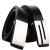Cowhide genuine leather belts for men Strap male Smooth buckle vintage jeans cowboy Casual designer belt