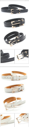 New Women Belts Fashion Crocodile Punk Thin Waist Belt Female Genuine Leather Straps