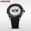 Casual Analog Quartz Watch With Japan Movement PU Band White Dial Stainless Steel Back Water Resistant Clock