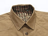Autumn Men Military Cotton Casual Shirts  Long Sleeve Army Green Turn-down Collar Loose Dress Shirt