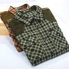Cotton Plaid Casual Shirts Men Absorb Sweat Military  Long Sleeve Leisure Loose Dress Shirt Autumn
