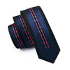 Mens Ties Silk Skinny Ties For Men Narrow Gravata Slim Tie Novelty Blue Necktie