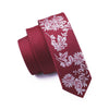 Mens Ties Silk Skinny Ties For Men Narrow Gravata Slim Tie Novelty Red Necktie