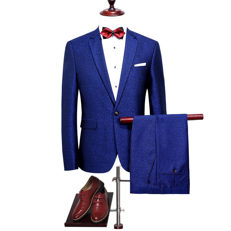 Royal Blue Men Suit Slim Fit Men Suits Wedding Groom Latest Coat ...