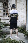 Fashion Men Patchwork Casual T-Shirt Men Hip Hop Splicing Camouflage Cotton Top Tees Male Street wear T shirts