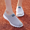 Men's Casual Shoes Men Summer Mesh Couple Style Slip On Non-Leather Casual Shoes Lightweight Men Creepers
